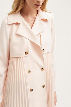 Doree Pleated Trench - anthropologie.com