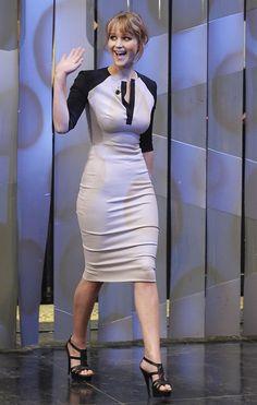 Jennifer lawrence- really like her dress.