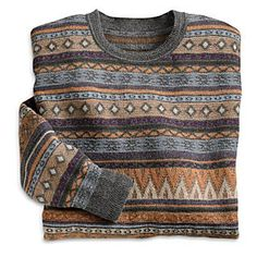 Men's Bingham Silk and Alpaca Sweater knit by artisans in Arequipa, Peru at the National Geographic Store