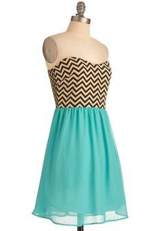 Chevron Top of the World Dress, #ModCloth