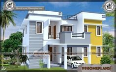 new modern house plans in kerala with home front elevation design images with ni. - new modern house plans in kerala with home front elevation design images with nippon paint house ex - Duplex House Plans, Bungalow House Plans, Modern House Plans, Small House Plans, Simple House Design, House Front Design, Modern House Design, Double Storey House Plans, Two Storey House