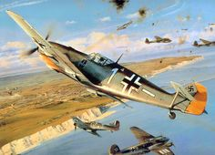 Steinhoff Tribute, by Robert Taylor (Bf 109E, Hurricane, He 111: Battle of Britain)