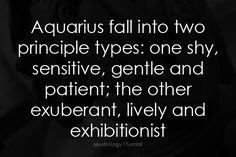 it can become a problem if you are in an aquarius/aquarius relationship and you are one and your significant other is the other.