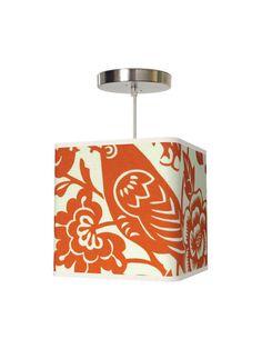 fabric covered pendant light...love thomas paul fabrics :)