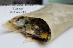 Mushroom Beef Tacos ~ Swap out some of the beef for finely diced or minced mushrooms to make your meal for frugal and healthy. You can't even taste them. #cookeasy