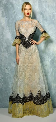 5ab59eae5f Beside Couture by Gemy Maalouf ¾ Bell Sleeve Evening Gown BC 1285