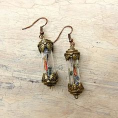 Cool Steampunk DIY Ideas - DIY Steampunk Vial Earrings - Easy Home Decor, Costume Ideas, Jewelry, Crafts, Furniture and Steampunk Fashion Tutorials - Clothes, Accessories and Best Step by Step Tutorials - Creative DIY Projects for Adults, Teens and Tweens