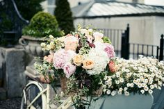 Vintage Wedding Bicycle at Tankardstown House Bicycle Wedding, Floral Wedding, Florals, Floral Wreath, Wreaths, House, Inspiration, Vintage, Home Decor