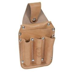 leather tool pouch idea | Klein Tools Leather Back Pocket Tool Pouch