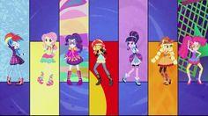 My Little Pony Equestria Girls Hasbro Studio Shorts. Friendship Through the Ages music video. MANE 7!!!!!! Rainbow Dash, Fluttershy, Rarity, Sunset Shimmer, Twilight Sparkle, Applejack, and Pinkie Pie.