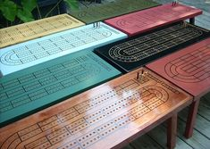 Cribbage Table, Saltwater Blue, Game Table, Cribbage Board, Coffee Table…