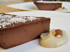Vitamix Recipes. Gluten Free, Dairy Free Chocolate Hazelnut Blender Pie you can make in your Vitamix in seconds. Just pour and bake. Too easy! This crustless blender pie is SOOOO delicious!