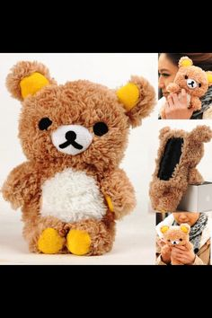 Ahw this is so adorable, a teddy bear as a iPhone case