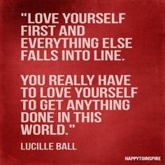 Love thy self...