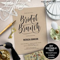 Tea party bridal shower invitation template ,that you can edit using Microsoft word 2007-higher and print at home or at a local print shop. Please read the following carefully before placing your order ______________________________ WHAT YOU GET .Editable text invitation text template (2 cards per US letter page, Also work with A4) .Easy guide how to work with the template. ______________________________ HOW DOES IT WORK .Open the file in Microsoft word 2007-higher version .Edit the sample…