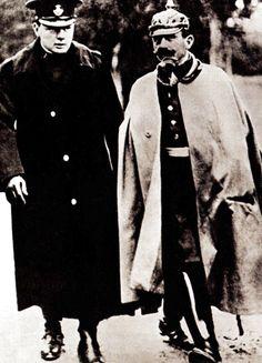 Winston Churchill and the German Emperor Kaiser Wilhelm II - 2 October 1909
