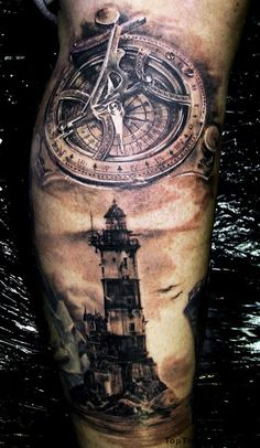 Amazing Lighthouse Tattoo Idea