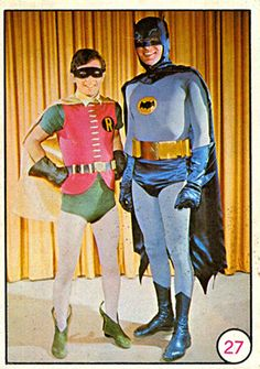 Batman and Robin. (1966) Trading Cards. Topps Bat Laughs.