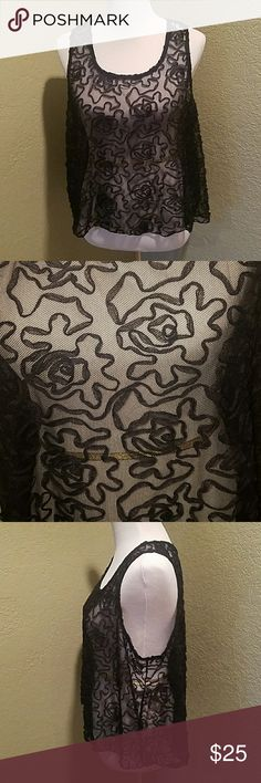 Free People Lace Top Super cute top in great condition.  Material contents tag has been removed. Free People Tops Tank Tops