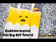 Gudetama No Sew Tote Bag Tutorial DIY (How to craft by Kawaii Felting) - YouTube