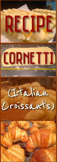 Step-by-Step instructions (with photos) on how to make Italian croissants that are as good as the ones you get in an Italian bakery!   OneDayInItaly.com   Italian Travel Planning & Blog