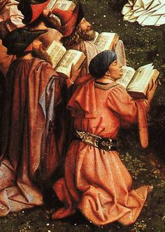 worshippers, Ghent Altarpiece (detail), Jan van Eyck