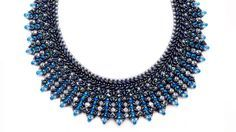 Coveted collar with Superduos and crystals ~ Seed Bead Tutorials