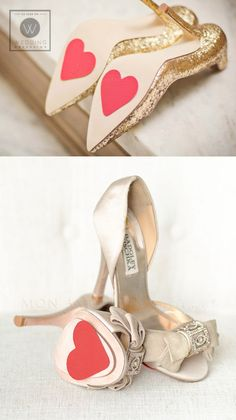 #SGWeddingGuide : Wedding Shoe Heart Petals - clever treaded hearts for the bottom of your wedding shoes that not only look adorable but give you a bit of extra traction.