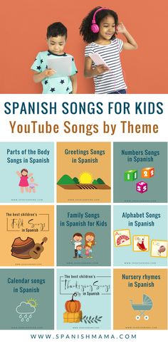 Find songs for kids in Spanish, from YouTube. Organized as a song library by theme so you can quickly find what you need, and always growing! Canciones para niños en YouTube.