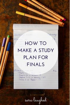 to Make a Study Plan for Finals How to Make a Study Plan for Finals - Sara Laughed- helpful at any time crammed with exams and papers!How to Make a Study Plan for Finals - Sara Laughed- helpful at any time crammed with exams and papers! Life Hacks For School, School Study Tips, School Tips, Planning School, College Success, College Tips, Finals College, Study College, College Checklist