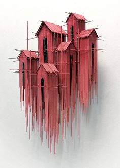 New architectural sculptures by David Moreno appear as three-dimensional drawing. - New architectural sculptures by David Moreno appear as three-dimensional drawings – Architecture - Cultural Architecture, Architecture Art, Installation Architecture, Spanish Architecture, Architecture Visualization, Sculpture Ornementale, Sculpture Ideas, Wire Sculptures, Sculpture Projects