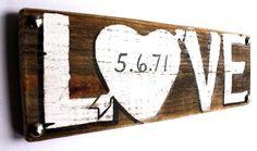 Personalized Wedding Sign Wood Custom Wedding Decor by MangoSeed, $25.00