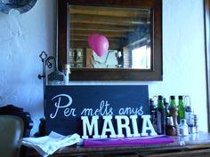Pizarra y letras blancas www.eventosycompromiso.com