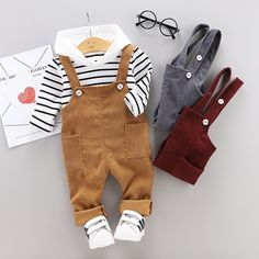 Baby Girl Pants – Baby and Toddler Clothing and Accesories Boys And Girls Clothes, Toddler Boy Outfits, Cute Baby Clothes, Toddler Boys, Kids Outfits, Toddler Chores, Little Boy Outfits, Baby Boy Fashion, Toddler Fashion