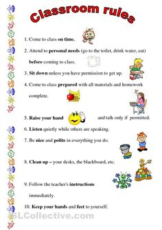 This is a set of rules I've established for my third graders. It usually works with them since they like getting high grades. Kindergarten Rules, Classroom Rules, Kindergarten Worksheets, Class Rules, Preschool Lesson Plans, Raise Your Hand, How To Get, How To Plan, Drinking Water