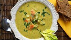 Polévka z řapíkatého celeru No Salt Recipes, Soup Recipes, Recipies, Healthy Recipes, Thai Red Curry, Good Food, Food And Drink, Vegan, Fresh