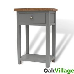 Greymore Telephone Table / Hall Table / Small Console Table Solid Oak & Hardwood Construction Professionally Finished In Our UK Spray Facility Dove Grey Col Console Table Uk, Small Console Tables, Small Tables, Oak Furniture Land, Oak Bedroom Furniture, Cheap Furniture, Small Hall Table, Hallway Seating, Grey Table