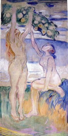 Edvard Munch - Harvesting Women, 1916