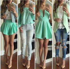 Mint outfits on fleek!