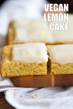 Vegan Lemon Cake with Cream Cheese Frosting. No added refined sugar in this soft and Delicious Lemon Cake! Make into cupcakes, loaf or a sheet pan cake. Vegan Soyfree Recipe, Can be nut-free
