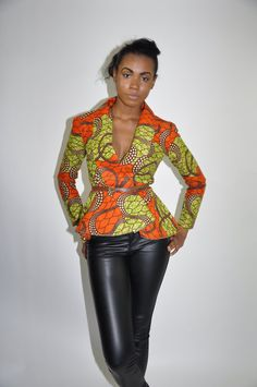 African Print Top- NEW The Justina Top
