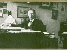 Igor Stravinsky at his desk