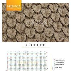 Crochet Crocodile Stitch - Chart ❥ 4U // hf