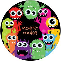 Monster Birthday Party Plate