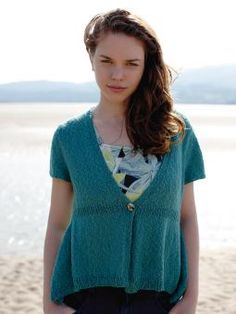 Lagoon - Knit this womens short sleeve cardigan from Simple Shapes Panama, designed by Sarah Hatton using the sumptuous yarn, Panama (linen, cotton a. Rowan Yarn, Cotton Jumper, Yarn Store, Short Sleeve Cardigan, Simple Shapes, Knitting Patterns, Knitting Tutorials, Knitting Ideas, Digital Pattern