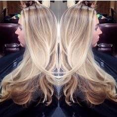 Kelcie has mastered the art of #hairpainting What a stunning sombre!!! Half head of balayage to brighten everything up. With a fresh cut and some soft layers around the face. She seriously has this amazing thick hair.  #TIGI #Tigicopyrightcolour #balayage #color #colorist #bright #blonde #teamblonde #blowout #cut #freshcut #layers #beauty #hotmama #utahstylist #nycstylist #utahhair #Padgram