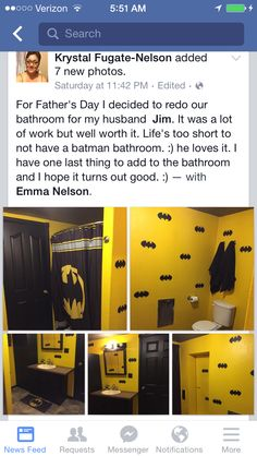 Bathroom With A Batman Theme. Awesome!