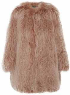 MARC JACOBS Brown Fox Coat - Lyst