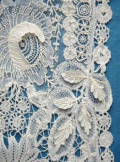 Brussels Duchesse - detail from etsy.com brussels point de gaze lace collar