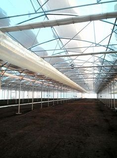 Heating greenhouse with hot air generators  Incalzire sera cu generatoare de aer cald peleti